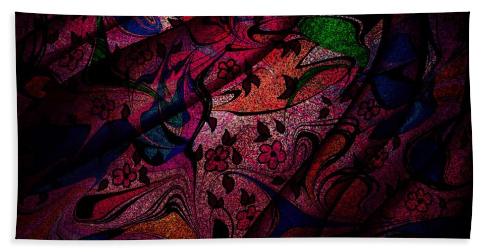 Landscape Bath Sheet featuring the digital art The Veil by Rachel Christine Nowicki