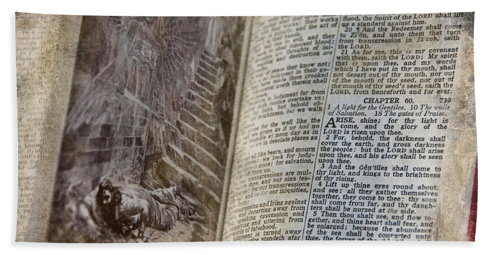 The Bible Bath Sheet featuring the photograph Bible Pages by David Arment