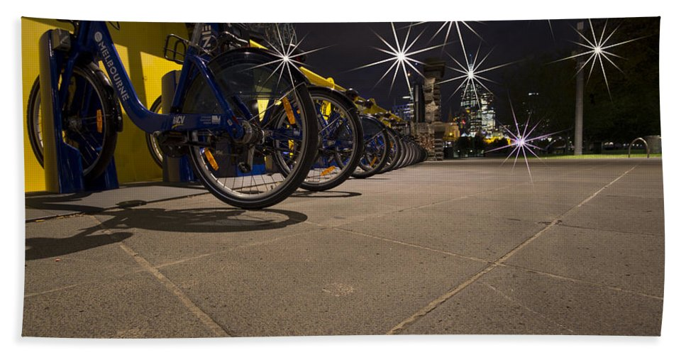 Bicycles Bath Sheet featuring the photograph Bicycle Lane by Douglas Barnard