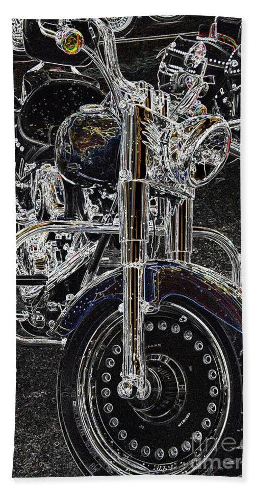 Motorcycle Bath Sheet featuring the photograph Big Willy Style by Anthony Wilkening