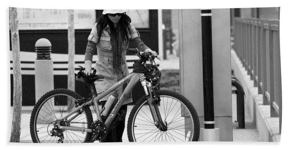 Bike Bath Sheet featuring the photograph Biker Chick by David Sanchez