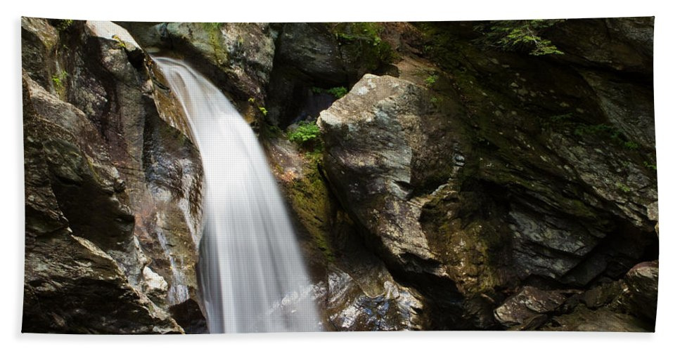 Waterfall Hand Towel featuring the photograph Bingham Falls Stowe Vermont by Stephanie McDowell