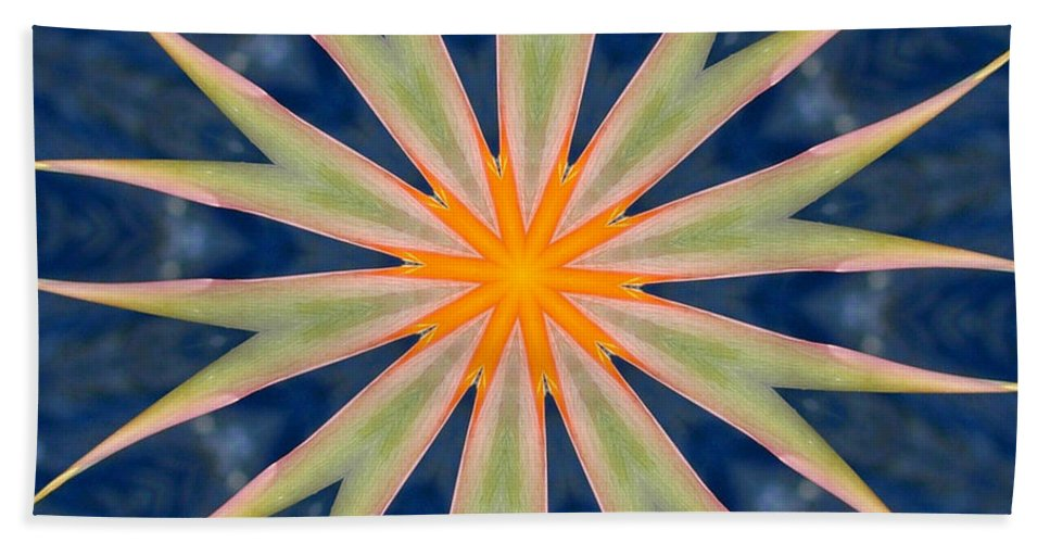 Kaleidoscope Hand Towel featuring the photograph Bird Of Paradise by Mark Gilman