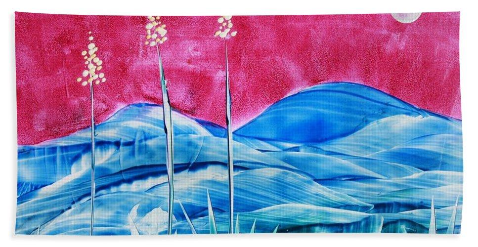 Encaustic Bath Towel featuring the painting Bisbee by Melinda Etzold