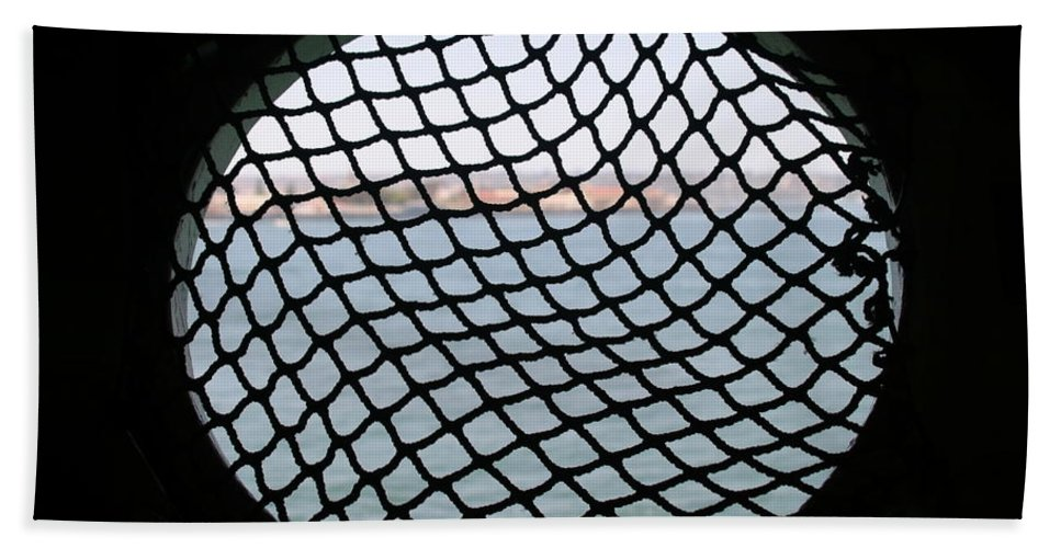 Boat Bath Sheet featuring the photograph Black Net by Henrik Lehnerer