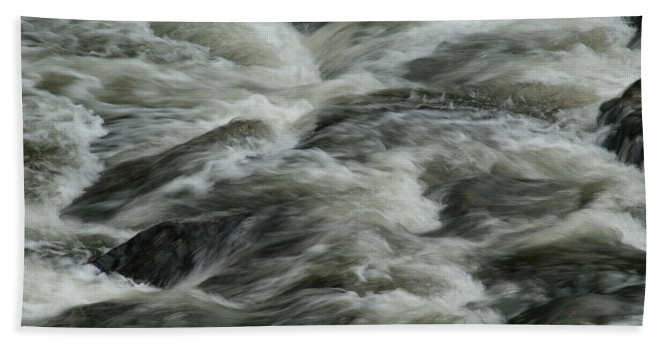 River Hand Towel featuring the photograph Black Water by Brian Kerls