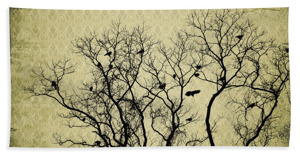 Blackbirds Roost Hand Towel featuring the photograph Blackbirds Roost by Bill Cannon