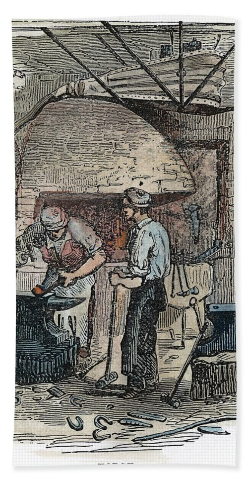 1860s Hand Towel featuring the photograph Blacksmith, C1865 by Granger