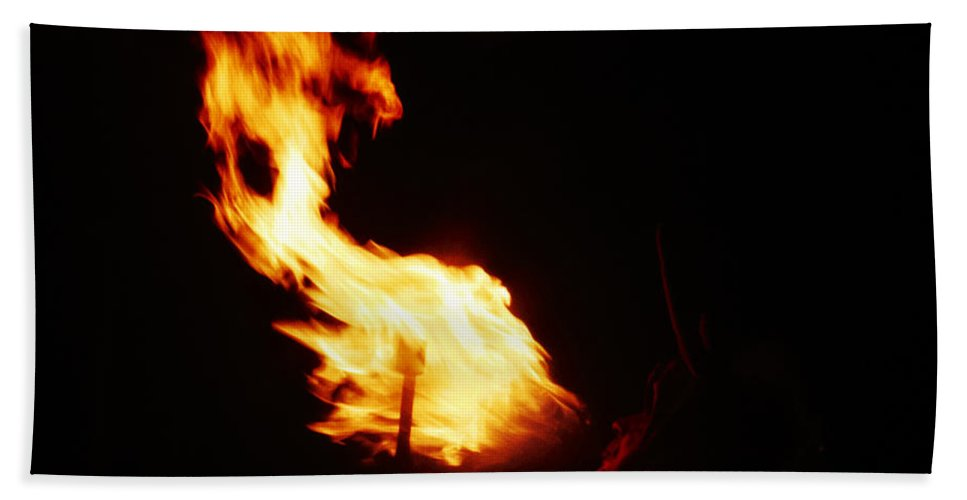 Fuego Bath Sheet featuring the photograph Blaze by Agusti Pardo Rossello