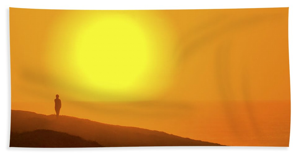 Blazing Sun Bath Sheet featuring the photograph Blazing Sun by Wes and Dotty Weber