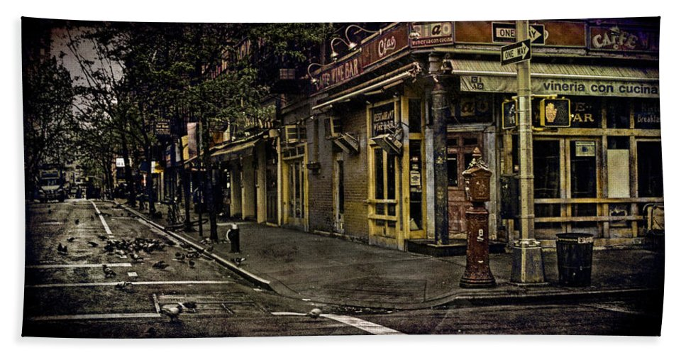 Bleeker Hand Towel featuring the photograph Bleeker Street Seven Am by Chris Lord