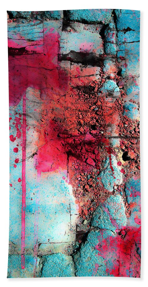 Abstract Artist Bath Sheet featuring the photograph Blood And Stones by The Artist Project