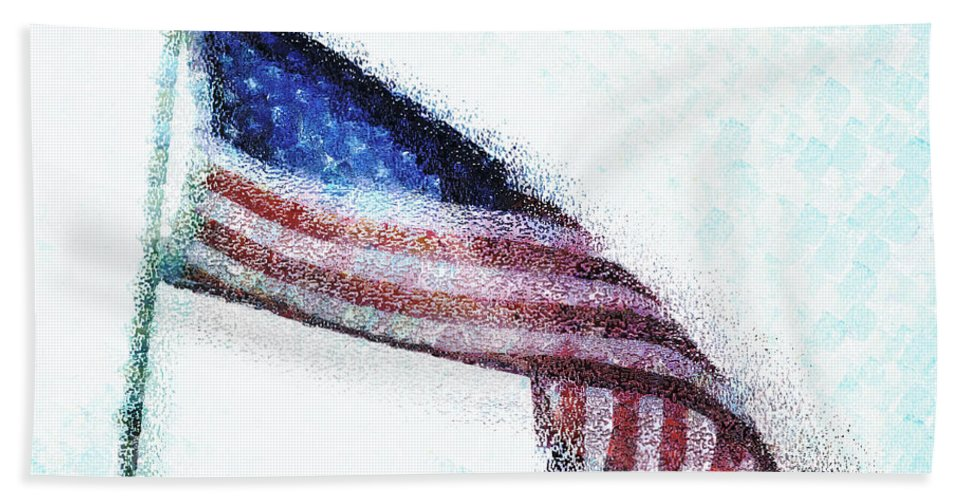Usa Hand Towel featuring the photograph Blowing In The Wind by Steve Taylor