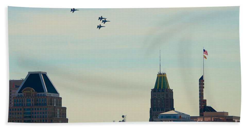 Blue Angels Hand Towel featuring the photograph Blue Angels 11 by Mark Dodd