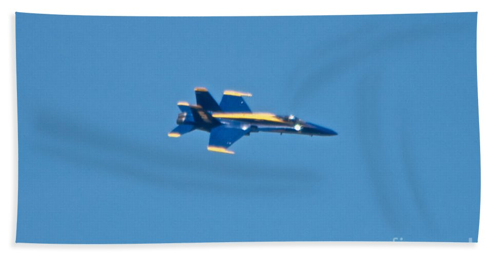 Blue Angel Hand Towel featuring the photograph Blue Angels 12 by Mark Dodd