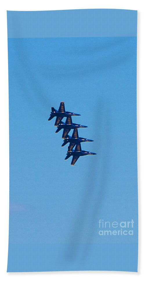 Blue Angels Hand Towel featuring the photograph Blue Angels 13 by Mark Dodd