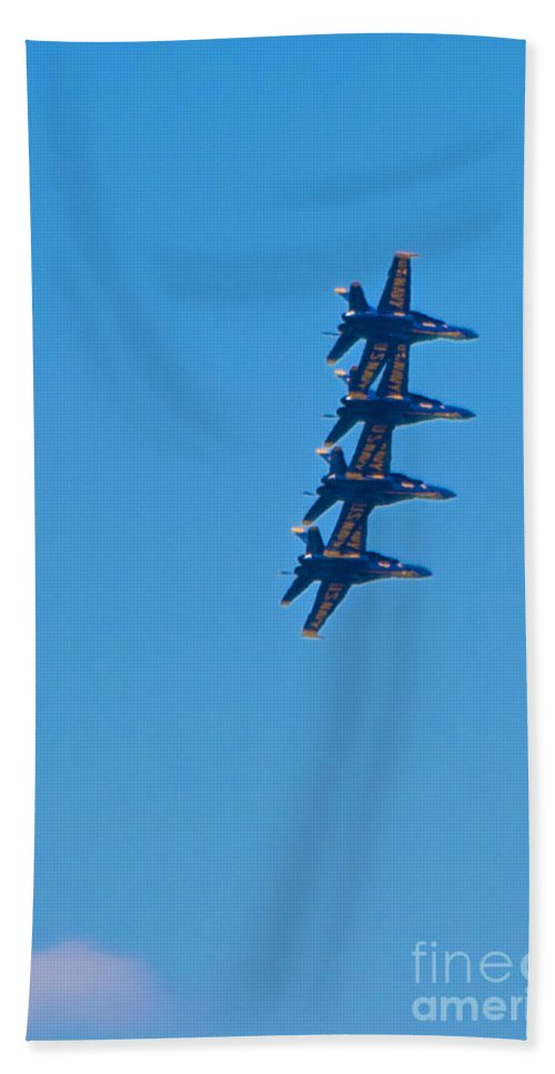 Blue Angels Hand Towel featuring the photograph Blue Angels 14 by Mark Dodd