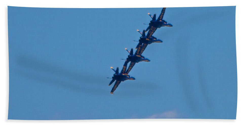 Blue Angels Hand Towel featuring the photograph Blue Angels 15 by Mark Dodd
