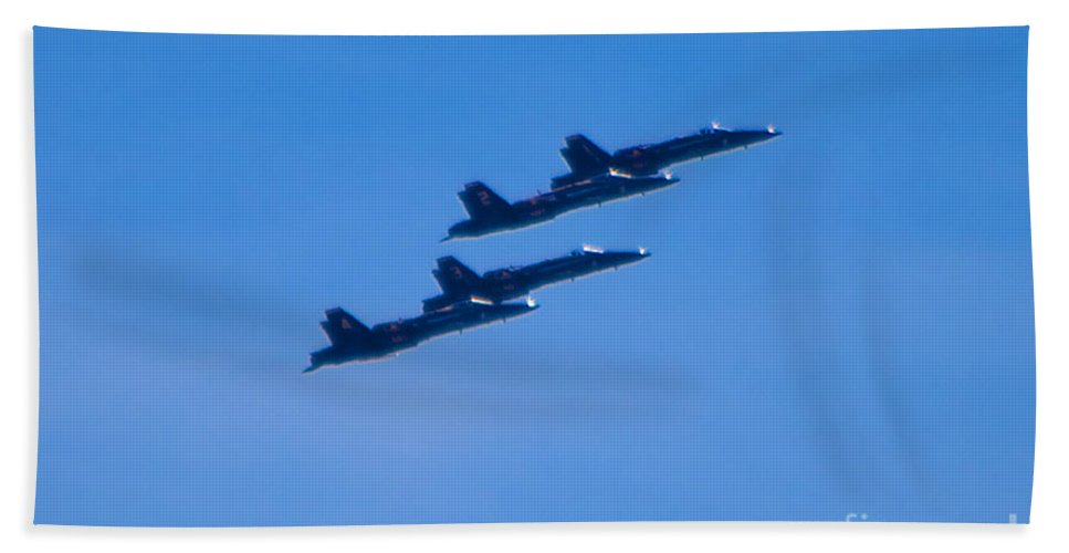Blue Angels Bath Sheet featuring the photograph Blue Angels 16 by Mark Dodd