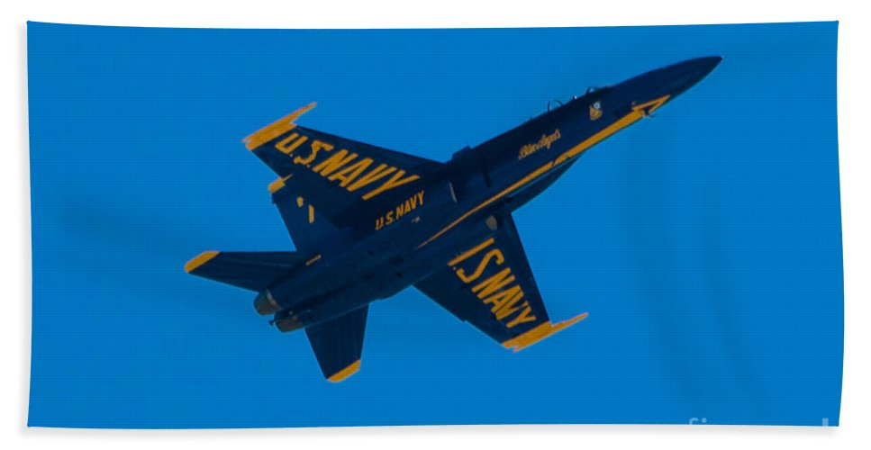 Blue Angels Hand Towel featuring the photograph Blue Angels 18 by Mark Dodd