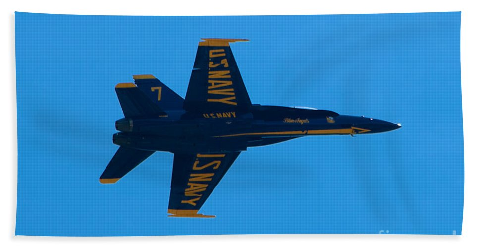 Blue Angels Hand Towel featuring the photograph Blue Angels 21 by Mark Dodd