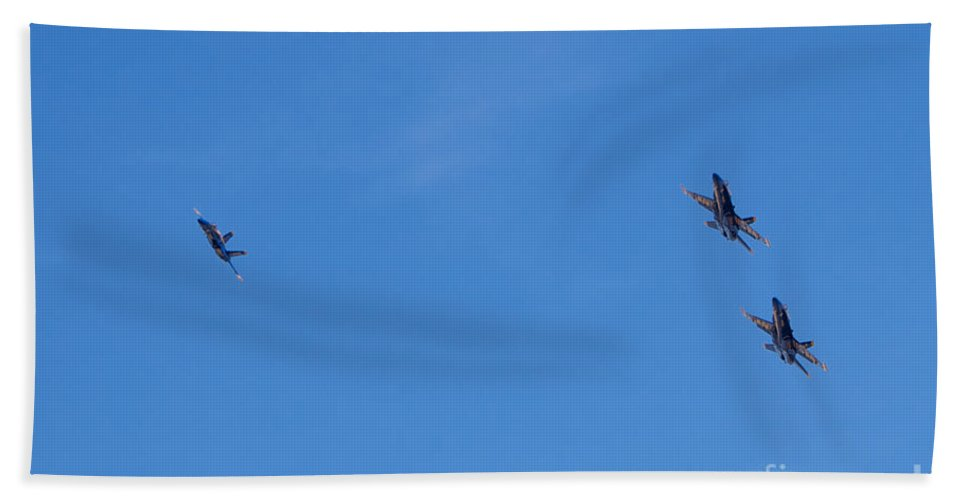Blue Angels Hand Towel featuring the photograph Blue Angels 23 by Mark Dodd