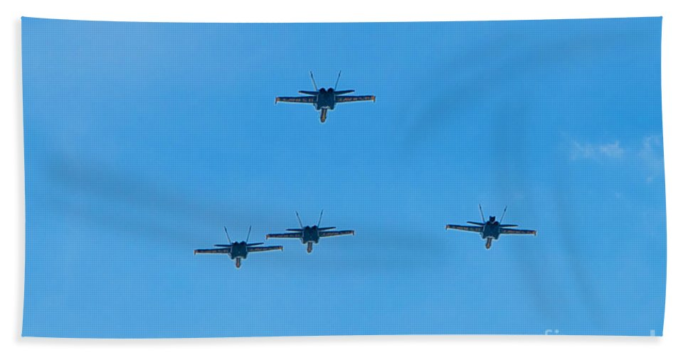 Blue Angels Hand Towel featuring the photograph Blue Angels 24 by Mark Dodd