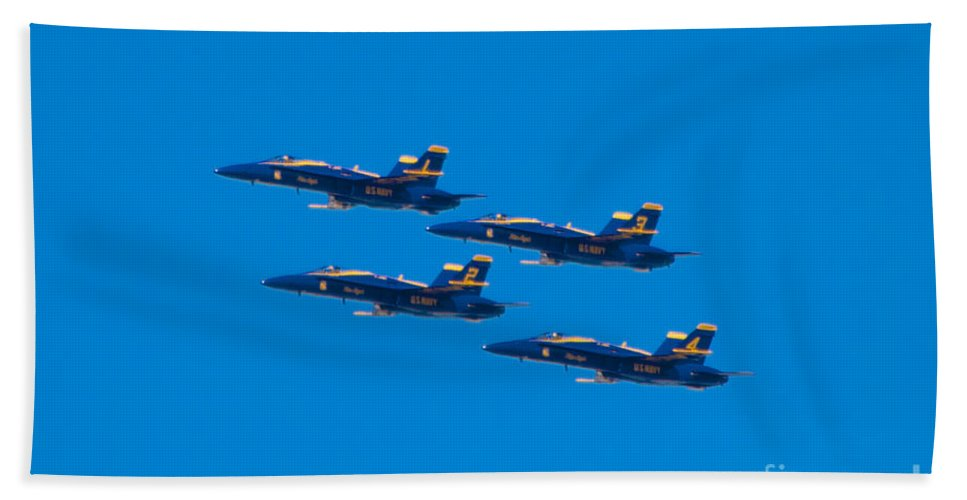Blue Angels Bath Towel featuring the photograph Blue Angels 25 by Mark Dodd