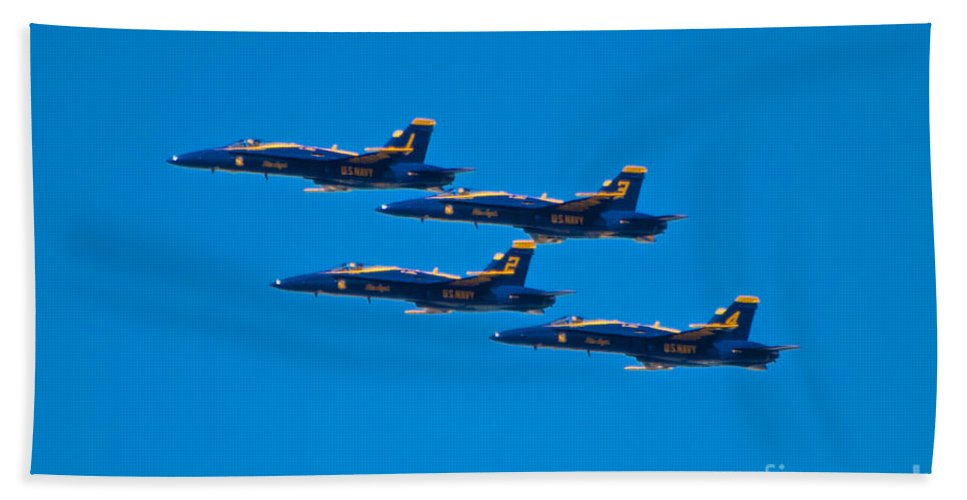 Blue Angels Hand Towel featuring the photograph Blue Angels 26 by Mark Dodd