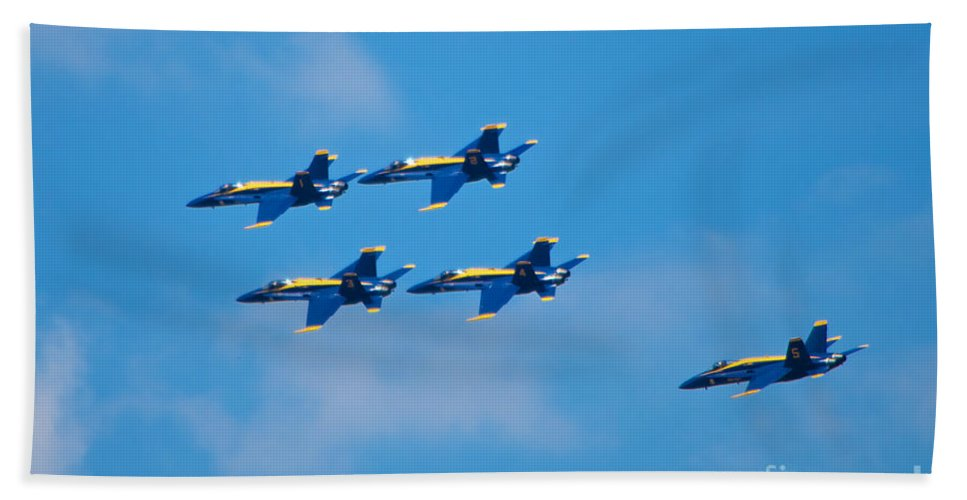 Blue Angels Hand Towel featuring the photograph Blue Angels 27 by Mark Dodd