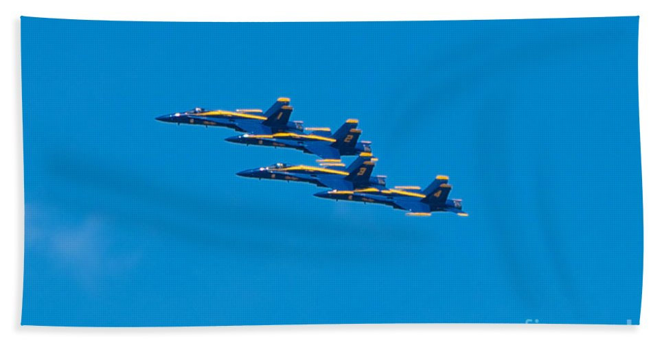 Blue Angels Bath Sheet featuring the photograph Blue Angels by Mark Dodd