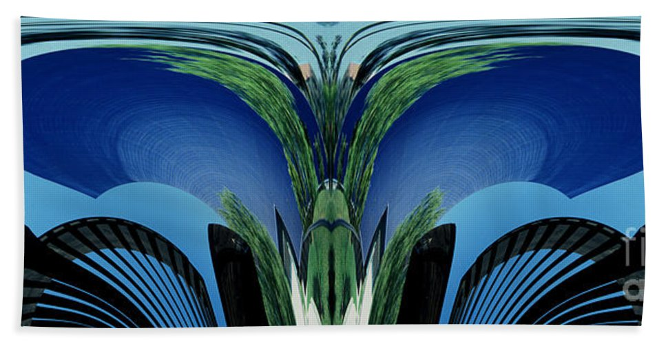Abstract Bath Towel featuring the photograph Blue Arches by Paul W Faust - Impressions of Light