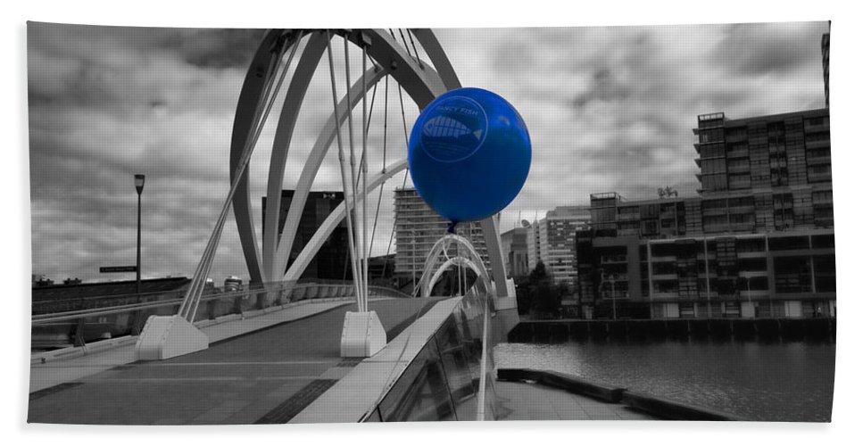 Blue Bath Sheet featuring the photograph Blue Balloon by Douglas Barnard