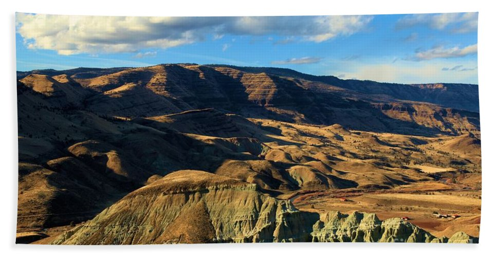 John Day Fossil Beds National Monument Hand Towel featuring the photograph Blue Basin Blue Skies by Adam Jewell