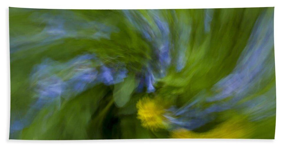 Bluebell Bath Sheet featuring the photograph Blue Bells Vortex 2 by John Brueske