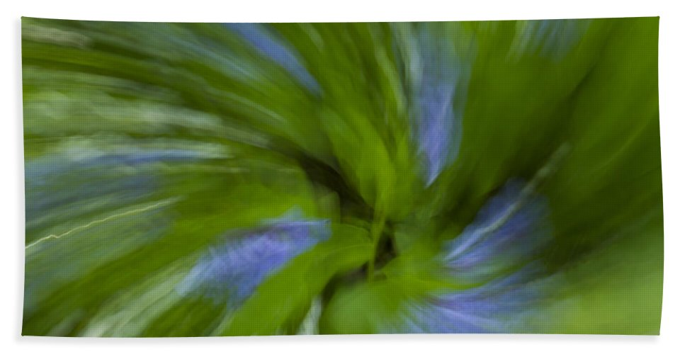 Bluebell Bath Sheet featuring the photograph Blue Bells Vortex 3 by John Brueske