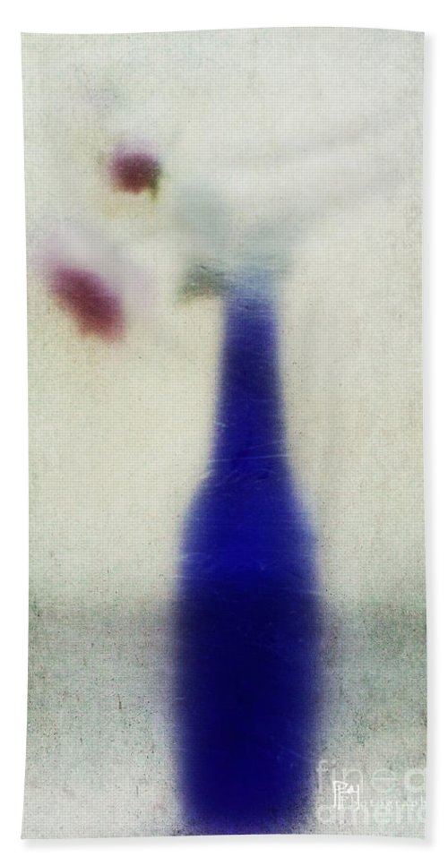 Blue Bath Sheet featuring the photograph Blue Bottle by Pam Holdsworth