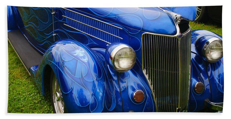 Custom Cars Bath Sheet featuring the photograph Blue Ghost Flames by Randy Harris