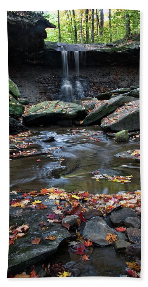 Water Bath Sheet featuring the photograph Blue Hen Falls II by Dale Kincaid
