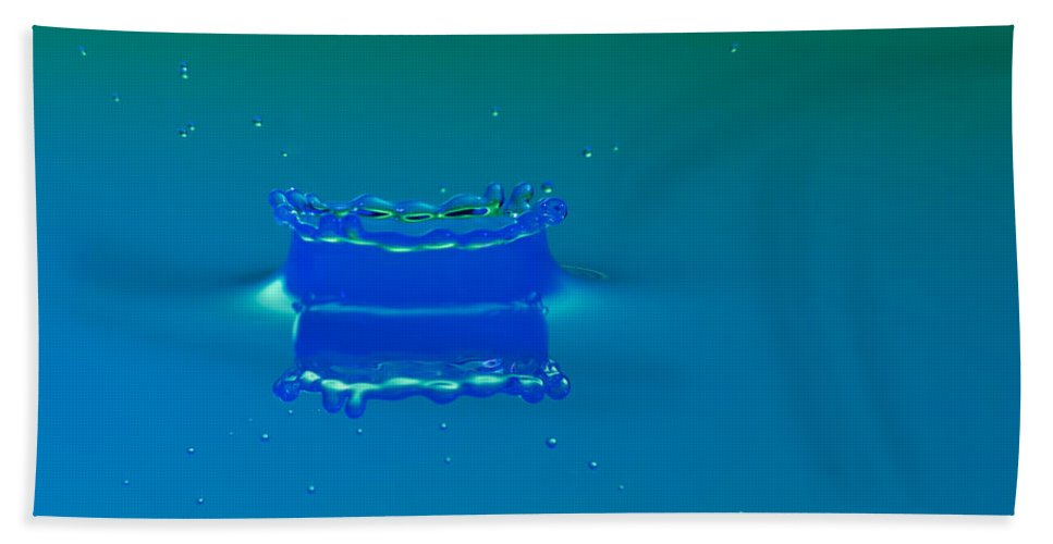 Impact Hand Towel featuring the photograph Blue Lagoon by Nick Field