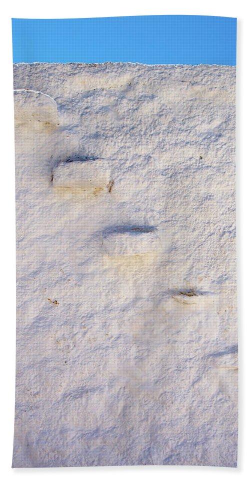 Jouko Lehto Hand Towel featuring the photograph Blue Line by Jouko Lehto