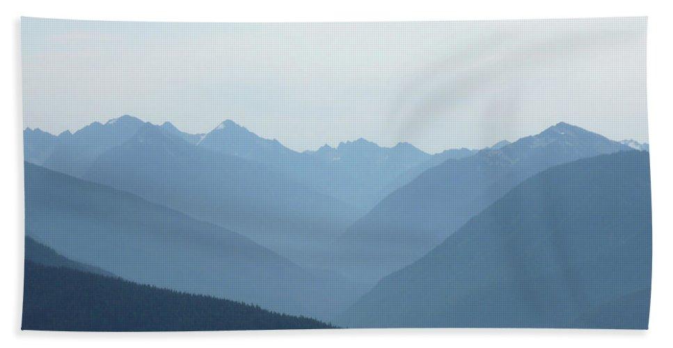 Landscape Bath Sheet featuring the photograph Blue Mountain Mist by Lauren Leigh Hunter Fine Art Photography