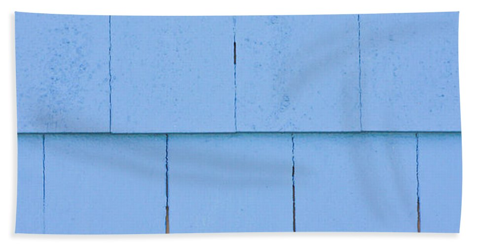 Architecture Bath Sheet featuring the photograph Blue Panels by Tom Gowanlock