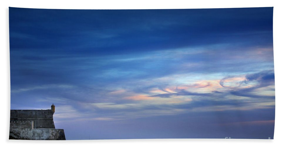 Angler Bath Sheet featuring the photograph Blue Storm by Carlos Caetano