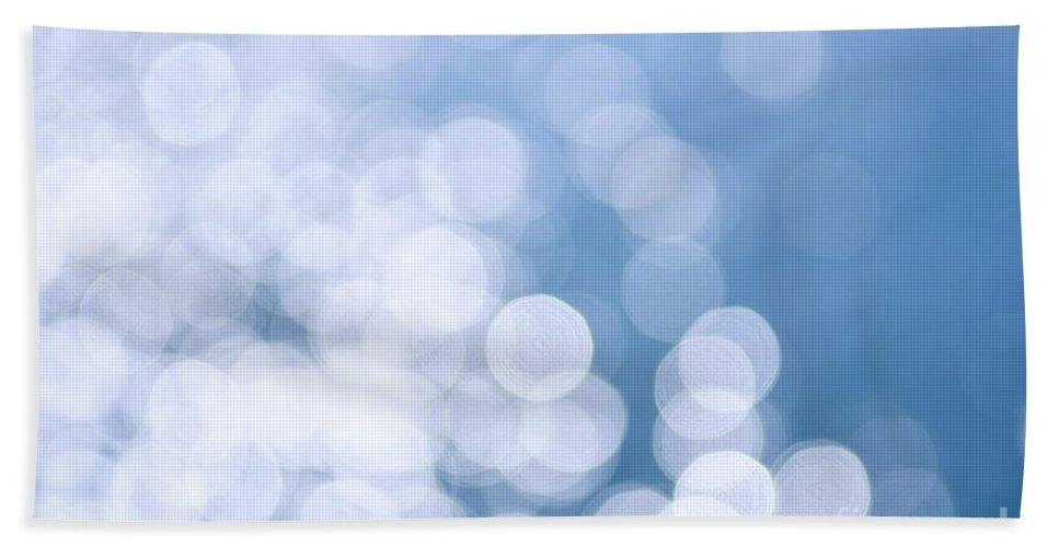 Blue Bath Towel featuring the photograph Blue Water And Sunshine Abstract by Elena Elisseeva