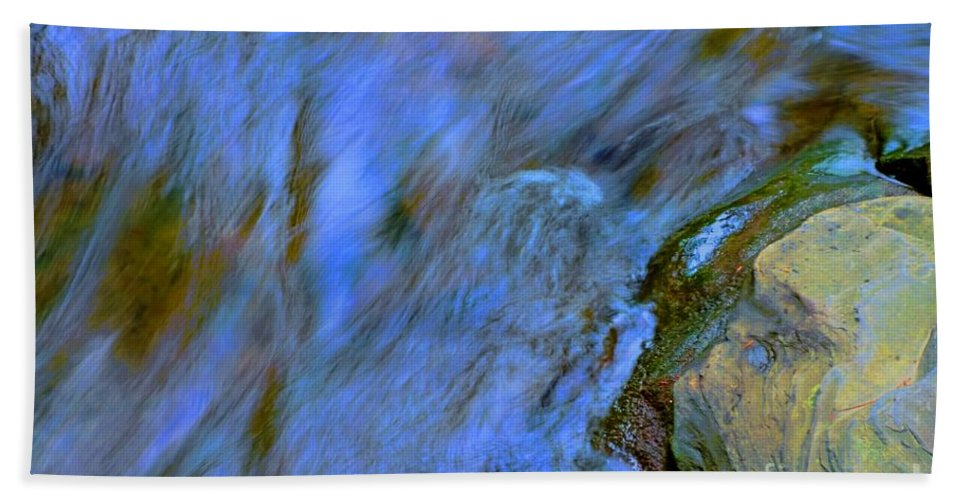 #letchworth #state #park Hand Towel featuring the photograph Blue Waters by Kathleen Struckle