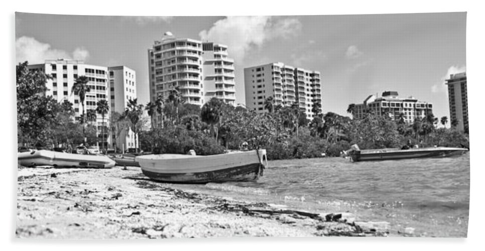 Sarasota Bath Sheet featuring the photograph Boat For Sure by Betsy Knapp