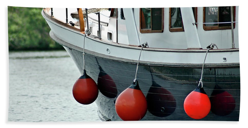 Boat Hand Towel featuring the photograph Boat Time by Carolyn Marshall