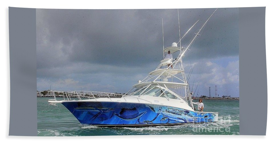 Boat Wrap Bath Sheet featuring the digital art Boat Wrap On Cabo by Carey Chen