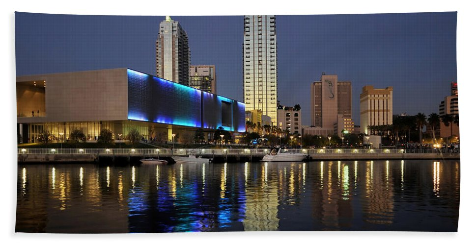 Fine Art Photography Hand Towel featuring the photograph Boats On The Hillsborough by David Lee Thompson